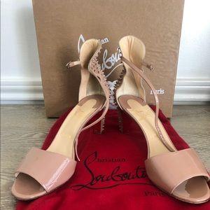 Trezanita Spiked-Heel Red Sole Sandal, Nude $995